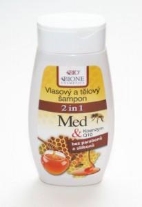 Šampon vlasový a tělový 2v1 MED + Q10 260 ml BC