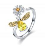 Prsten Včela stříbrná žlutá