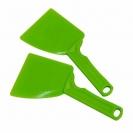 Stěrka na med plastová s rukojetí zelená