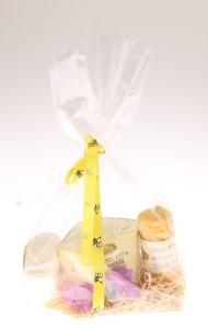 Blahodárný dárek s krémem a mýdlem