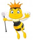 Včelka samolepící královna 9x12 cm