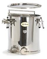 Čeřící a plnící nádoba na 35 kg  medu a nerez síta