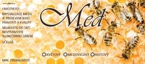 Etikety samolepící na MINI sklenice motiv VČELY-PL