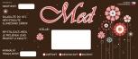 Etikety samolepící na sklenice motiv KVĚTINY MAL T