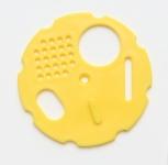 Česnový uzávěr kruhový průměr 80 žlutý