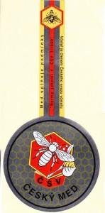 Etikety samolepící na víčko sklenice s logem ČSV