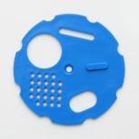 Česnový uzávěr kruhový průměr 80 modrý