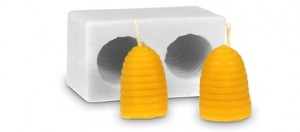 Forma silikonová BE-EQ® Včelí úly 4 x 3 cm