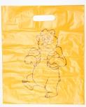Taška plastová žlutá s méďou silná