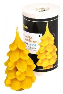 Forma silikonová svíčka Strom s baňkami 9,5 cm