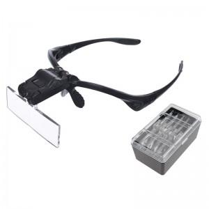 Hlavové brýle s osvětlením a výměnnými čočkami