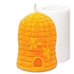 Forma silikonová svíčka Včelí úl se včelami 10 cm