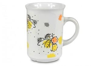 Hrnek keramický s moderním motivem včel