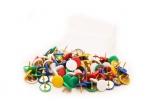 Připínáčky barevné MIX (100 ks)