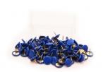 Připínáčky barevné MODRÉ (100 ks)