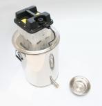 Vařák na vosk nerezový s vyvíječem páry 230V velký