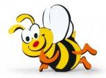 Samolepka pěnová VČELA 24 cm velká