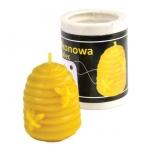 Forma silikonová svíčka Včelí úl se včelami 4,5 cm