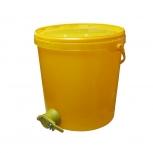 Stáčecí nádoba na 25 kg medu plastová žlutá
