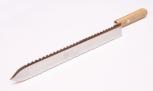 Nůž odvíčkovací oboustranně zubatý nerez 28 cm