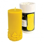 Forma silikonová svíčka hladká s ozdobou 13 cm
