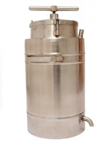 Nerezový vařák na vosk s lisem 28L