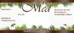 Etikety samolepící na MINI sklenice motiv MEDOVICE