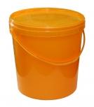 Nádoba na med do 25 kg medu plastová žlutá