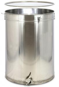 Stáčecí nádoba na 100 kg medu nerezová s těsněnním
