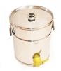 Stáčecí nádoba na 25 kg nerezová plastový kohout
