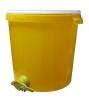 Stáčecí nádoba na 40 kg medu plastová žlutá