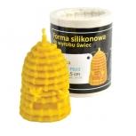 Forma silikonová svíčka Včelí úl se včelami 7,5 cm