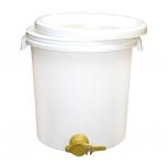 Stáčecí nádoba na 40 kg medu plastová bílá