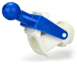 Kohout nožový plastový sklápěcí