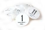 Čísla na úly kruhová 31 – 40