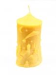 Svíčka s vánočním motivem
